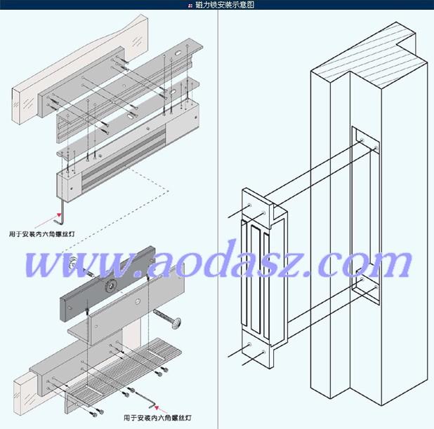 磁力锁(电磁锁)不同安装剖析图解